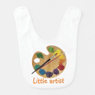 Little artist colorful palette rainbow color wheel baby bib