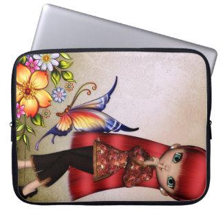 Little Asian Girl 1 Fantasy Laptop Sleeve