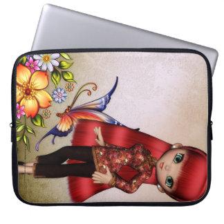 Little Asian Girl 2 Fantasy Laptop Sleeve