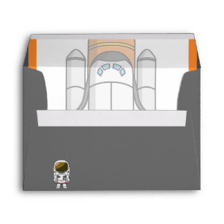 Little Astronaut & Spaceship Birthday Envelopes