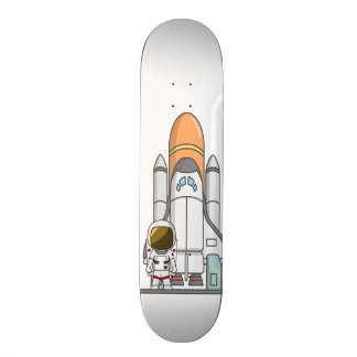 Little Astronaut & Spaceship Skateboard