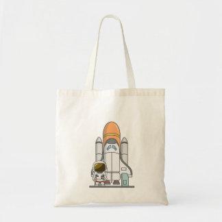 Little Astronaut & Spaceship Tote Bag