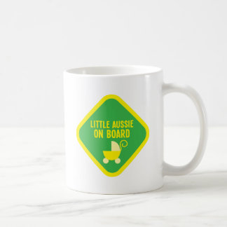 Little Aussie on Board on a sign Coffee Mug