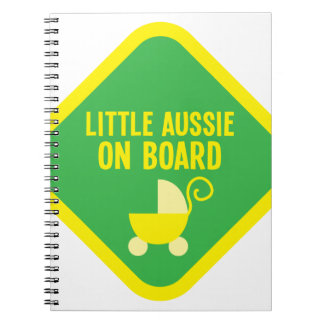 Little Aussie on Board on a sign Notebook