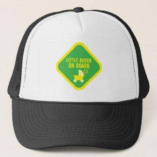 Little Aussie on Board on a sign Trucker Hat