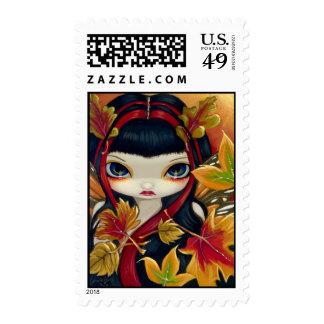 """Little Autumn Leaves"" Stamp"