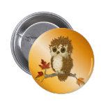 Little Autumn Whoo Owl 2 Inch Round Button