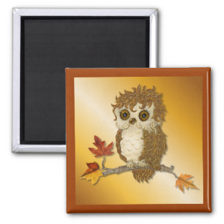 Little Autumn Whoo Owl Magnet