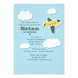 Little Aviator Invitation