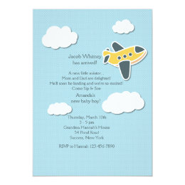 Little Aviator Sip and See Invitation