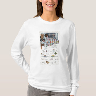 Little Awaken Girl Spies Santa and Sleigh T-Shirt