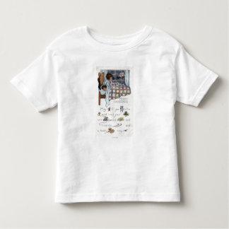 Little Awaken Girl Spies Santa and Sleigh Toddler T-shirt