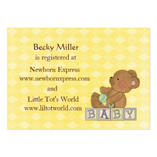 Little Baby Bear Baby Shower Registry Cards Large Business Cards (Pack Of 100)