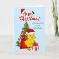 Little Baby Chicken Christmas Holiday Card