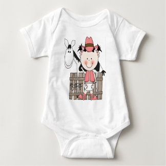 Little Baby Cowgirl with Horse T-Shirt