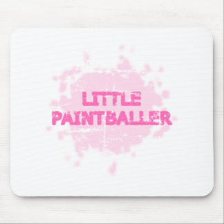 Little Baby Girl Paintball Mouse Pad
