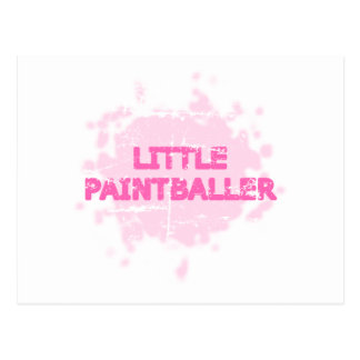 Little Baby Girl Paintball Postcard