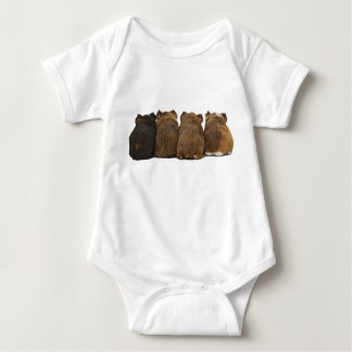 Little baby guinea pig butts baby bodysuit