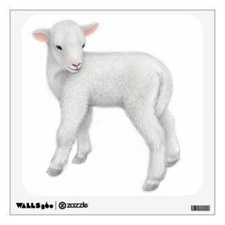 Little Baby Lamb Wall Decal