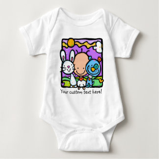 LITTLE BABY loves ANIMALS apparel T-shirt