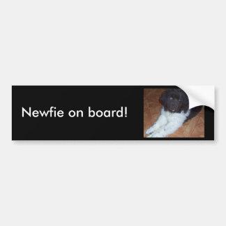 Little baby newfie bumper sticker