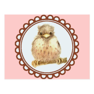 Little Baby Robin In Pink Post Card