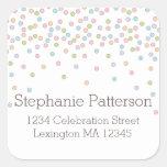Little Baby Sprinkle Confetti Shower Address Label Square Sticker
