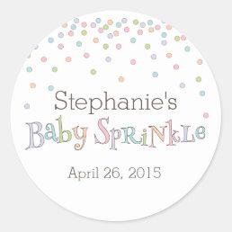 Little Baby Sprinkle Confetti Shower Favor Sticker
