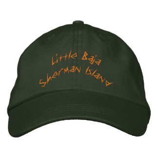Little Baja Sherman Island Embroidered Baseball Hat