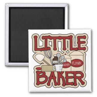 Little Baker 2 Inch Square Magnet