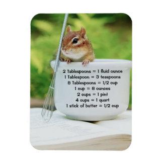 Little Baker Chipmunk Measurements Premium Magnet