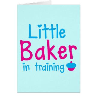 Little BAKER in training Card