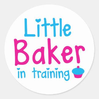 Little BAKER in training Classic Round Sticker