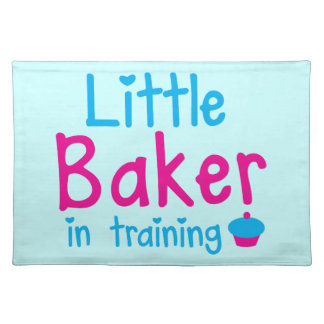Little BAKER in training Cloth Placemat