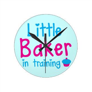 Little BAKER in training Round Clock