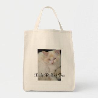 Little Ball of Fur Cat Tote Bag