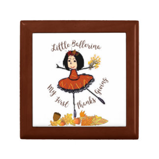 Little Ballerina-1st Thanksgiving-Treasure Keeper Gift Box