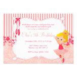 Little Ballerina birthday Invitations - version 1