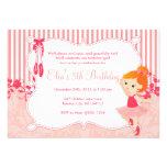 Little Ballerina birthday Invitations - version 3