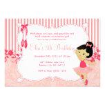 Little Ballerina birthday Invitations - version 6