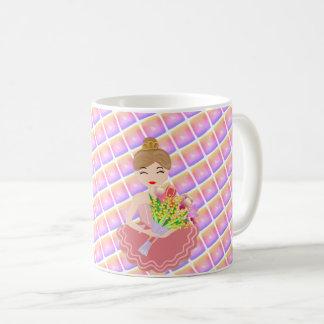 Little Ballerina, Bunch of Flower, I Love You! Coffee Mug