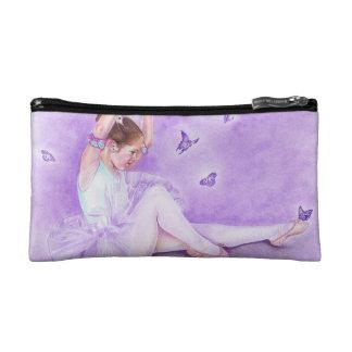 Little ballerina butterflies pencil cosmetic bag