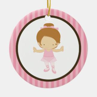 Little Ballerina Ceramic Ornament