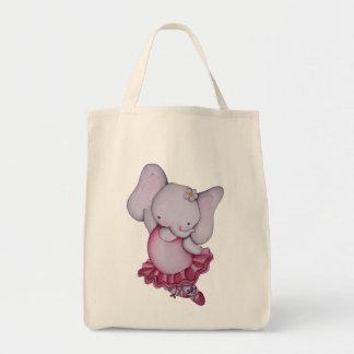 Little Ballerina Elephant Tote Bag