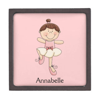 Little Ballerina Girl/Light Complexion-Personalize Premium Jewelry Boxes