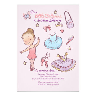 Little Ballerina Invitation