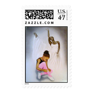 """Little Ballerina"" Postage Stamp"