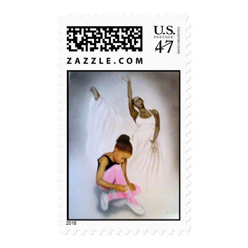 """Little Ballerina"" Postage Stamp"