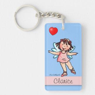 Little Ballerina - Rectangle Keychain Doublesided