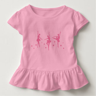Little Ballerinas Ruffled Toddler T-Shirt